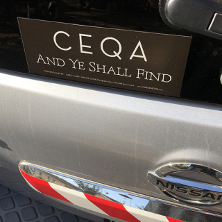 CEQA and ye shall find sticker