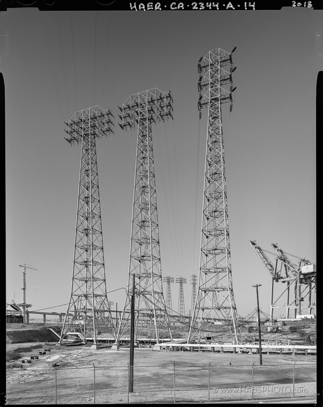 Cerritos Channel Towers-HAER Photograph by S Schafer-089